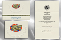 Platinum Style University of Florida College of Pharmacy Graduation Announcement
