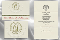 platinum style university of georgia graduation announcement