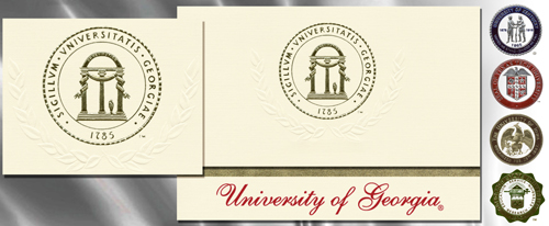 Platinum University-of-Georgia Graduation Cards