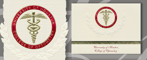 University of Houston College of Optometry Graduation Announcements