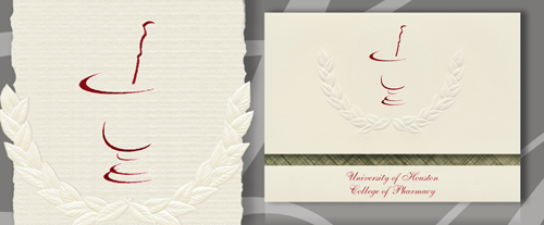 University of Houston College of Pharmacy Graduation Announcements