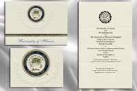 Platinum Style University of Illinois at Springfield Graduation Announcement