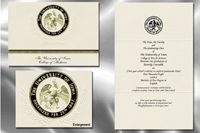 Platinum Style University of Iowa College of Medicine Graduation Announcement