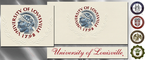 Platinum University-of-Louisville Graduation Cards