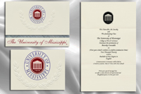 Platinum Style University of Mississippi Graduation Announcement