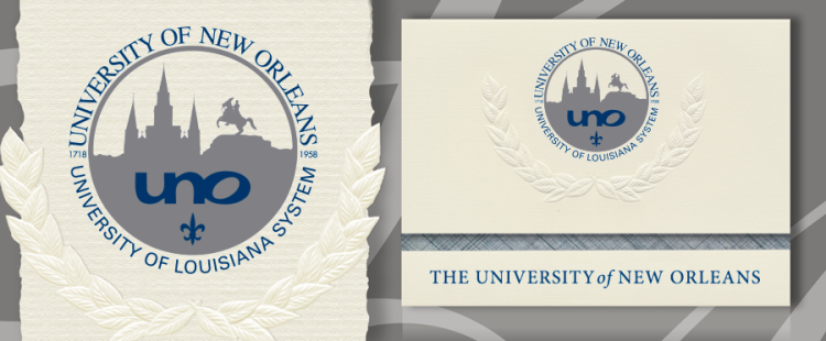 University of New Orleans Graduation Announcements
