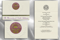 Platinum Style University of North Alabama Graduation Announcement
