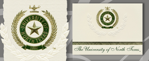 University of North Texas Graduation Announcements