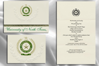 Platinum Style University of North Texas Graduation Announcement
