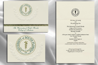 Platinum Style University of South Florida College of Medicine Graduation Announcement