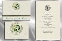 Platinum Style University of South Florida Graduation Announcement