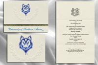 Platinum Style University of Southern Maine Graduation Announcement