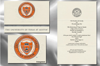 Platinum Style University of Texas at Austin Graduation Announcement