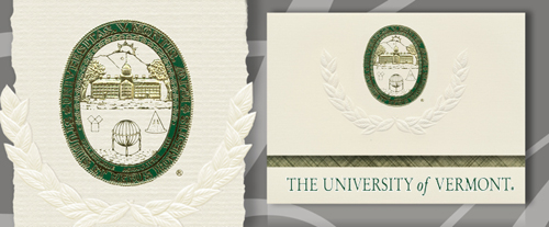 University of Vermont Graduation Announcements