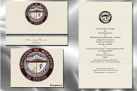 Platinum Style University of Wisconsin - La Crosse Graduation Announcement