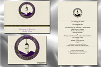 Platinum Style University of Wisconsin - Stevens Point Graduation Announcement