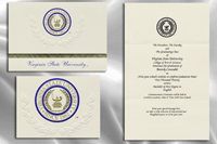 Platinum Style Virginia State University Graduation Announcement