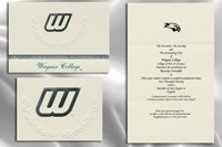 Platinum Style Wagner College Graduation Announcement