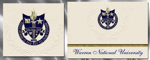 Warren National University Graduation Announcements