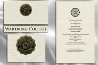 Platinum Style Wartburg College Graduation Announcement