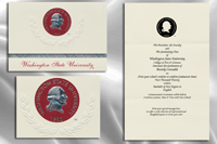 Platinum Style Washington State University Graduation Announcement