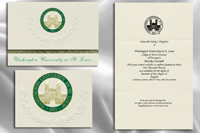 Platinum Style Washington University in St. Louis Graduation Announcement