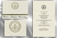 Platinum Style Western Michigan University Graduation Announcement