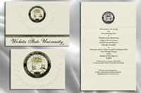 Platinum Style Wichita State University Graduation Announcement